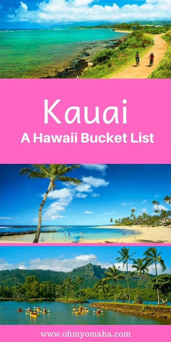 Planning the Hawaii getaway of a lifetime? Here's a bucket list of things to do on the island of Kauai! List includes outdoor adventures, top snorkeling spots and food to try. #Kauai #Hawaii #USA #Islands #tropical #vacation