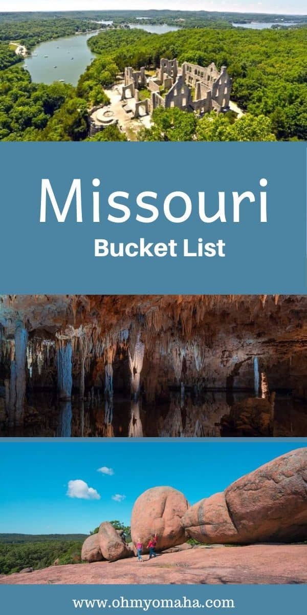 Amazing places to visit in Missouri! Here's a bucket list of things to do, places to stay and food to eat in Missouri | Missouri bucket list | Missouri things to do | Missouri vacation | Missouri restaurants | Missouri state park