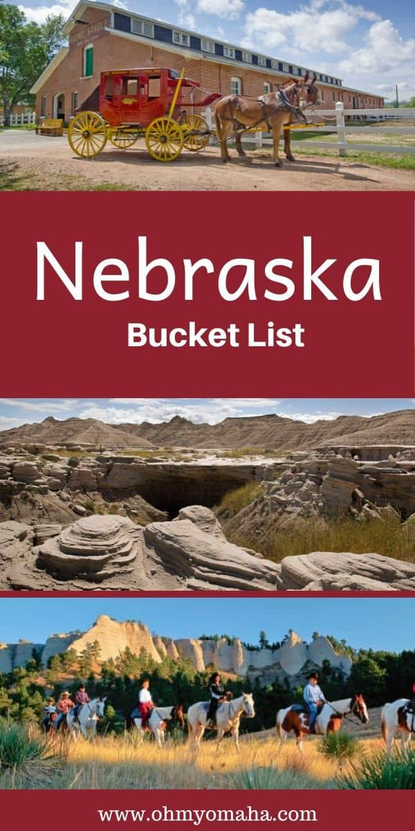 Plan a trip to Nebraska using the ultimate Nebraska bucket list! From outdoor adventures like horseback rides in Western Nebraska to airboat river tours, this post suggests a lot of things to make a Nebraska vacation memorable. #Nebraska #USA #Guide #Midwest #Outdoors