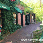 Exterior of Old Market Candy Shop in Omaha, Nebraska