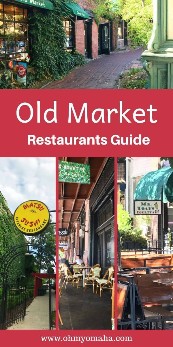 Everything you need to know about Old Market restaurants in the historic district of Omaha, Nebraska. This guide includes tips on where to dine with kids, large groups, and the best date night options, as well as suggestions on which bars to go to if you just want a great drink. #Omaha #Nebraska #restaurants #bars #Midwest