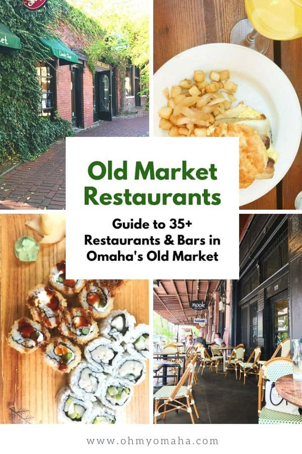 Omaha has a lot of great restaurants, especially in the history Old Market! Here's a guide from a local on the best places to eat and drink in the Old Market, including tips on kid-friendly restaurants and places the fit large groups. #Omaha #restaurants #Nebraska #Midwest #food