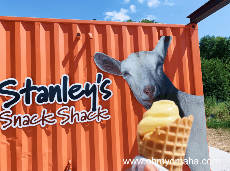 Goat milk gelato at Stanley's Snack Shack in Honey Creek, Iowa.