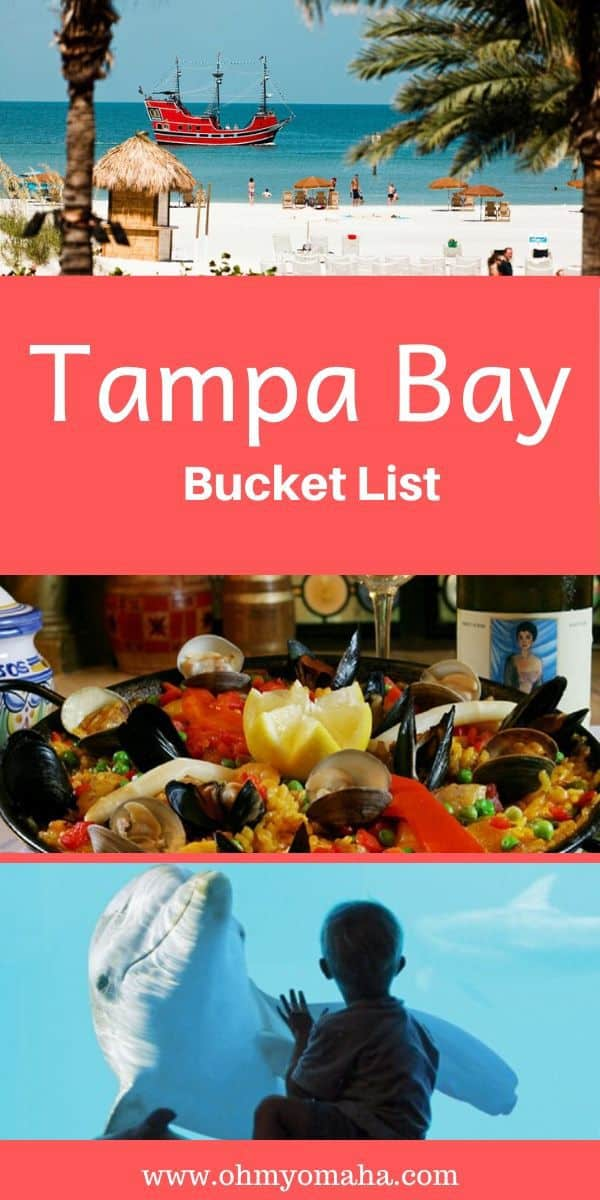 "Planning a trip to sunny Florida? Here's a great bucket list of things to do in the Tampa Bay Area, including pirate adventures, gorgeous beaches and not-to-miss attractions. This Tampa guide also includes ""best of Tampa"" restaurants worth including on your itinerary. #Tampa #TampaBay #Florida #USA"