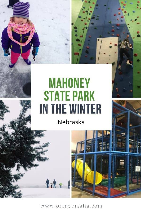 Should you spend a day at Mahoney State Park in Nebraska...or a weekend? Here's a guide to winter at Mahoney State Park - with tips on things to do at the park (both indoors and outdoors), where to stay, and what kids will like. #Nebraska #statepark #outdoors #winter #guide #USA #Midwest