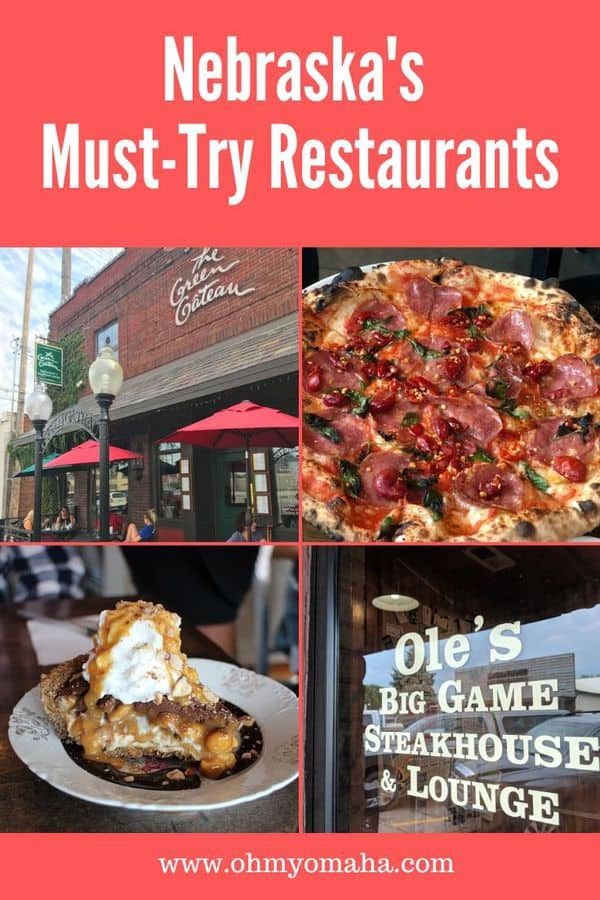 Planning a trip through Nebraska? You'll want to plan a few stops to try some of the best restaurants in Nebraska. Here are 10 places to eat in Nebraska, from small town steakhouse to wood-fired pizza and vegan cuisine in Omaha. #Nebraska #restaurants #restaurantguide #foodie #foodietravel #Midwest