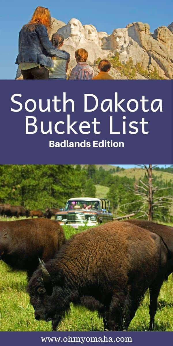 A huge list of things to do and see in South Dakota! All the monuments to see, things to do, and wildlife experiences to have while visiting western South Dakota and the Badlands. #bucketlist #Midwest #SouthDakota