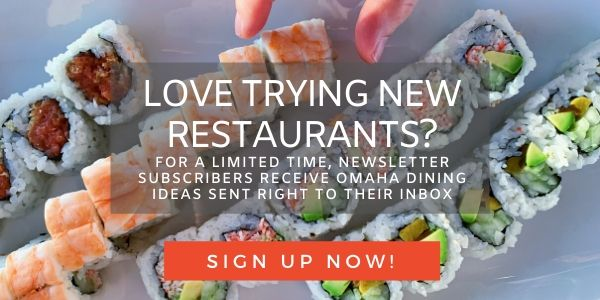 Omaha restaurant e-newsletter sign-up button