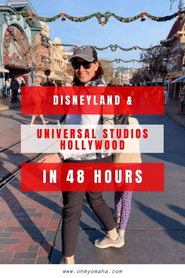 Going to LA with kids and only have two days? In order to visit Disneyland AND Universal Studios Hollywood, you need a good strategy. Here are 10+ tips for going to both parks in two days. #familytravel #disneyland #disney #UniversalStudiosHollywood #California #USA