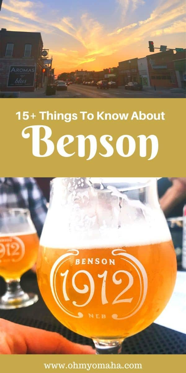 Visiting Omaha and want to explore the historic Benson neighborhood? Here's a list of Benson restaurants and bars to try, shops to visit, and more fun things to do in the area - including where you can go with kids. #Omaha #Nebraska #Benson #Midwest