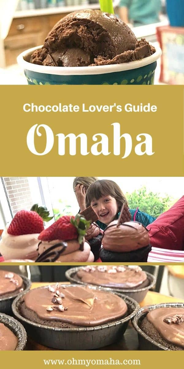 If you have a sweet tooth and really love chocolate, this is your guide to Omaha restaurants. The chocolate lover's guide to Omaha shares locals' recommendations for bakeries, restaurants, artisan chocolatiers, and ice cream shops, all guaranteed to satisfy chocolate cravings. #Omaha #eatlocal #restaurants #icecream #dessert #chocolates #Midwest #Nebraska #sweets