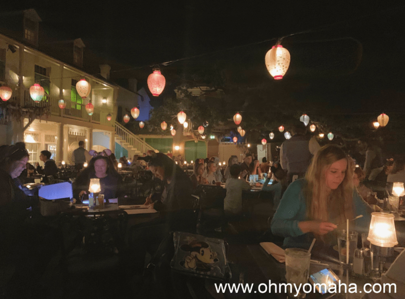 Inside Blue Bayou Restaurant in Disneyland