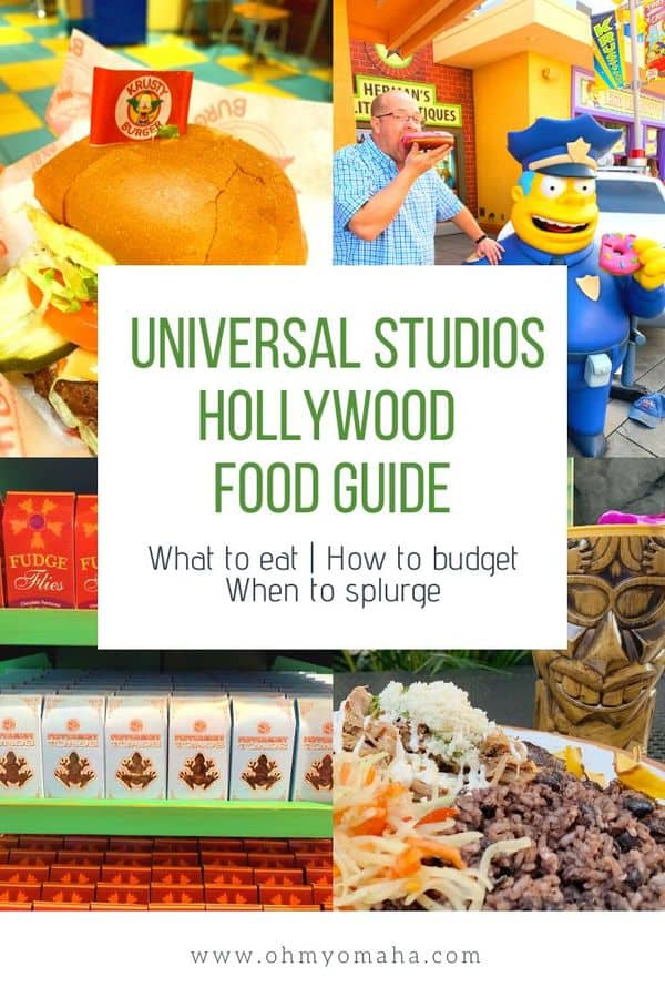 Everything you need to know about the food at Universal Studios Hollywood in California | Guide to restaurants and how to budget for a family trip to Universal Studios Hollywood | Helpful guide answers questions about budgeting and what foods are vegetarian and vegan. #California #USA #UniversalStudiosHollywood #foodie #food #guide #familytravel