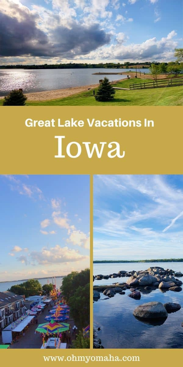 Looking for a summer vacation idea in Iowa? Consider one of the three great lake vacation destinations in Iowa! Get tips on things to do in Clear Lake, Okoboji and Lake Icaria, including where to eat and whether it's a more relaxing or active lake to stay at. #Iowa #summer #Midwest #lakes #activevacation