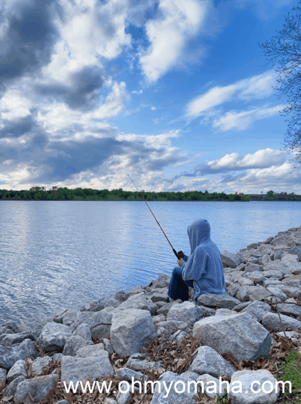 Fishing at Lake Icaria in western Iowa