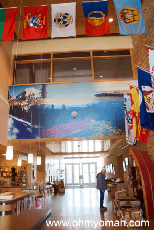 Inside the Lewis & Clark National Historic Trail Headquarters and Visitor Center in Omaha, Nebraska