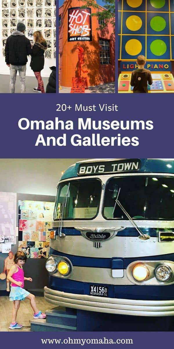 Omaha has so many great museums and art galleries! From art and history to science and creative processes, here's what you should know about the must-visit museums in the city. #Omaha #Nebraska #Museums #Midwest