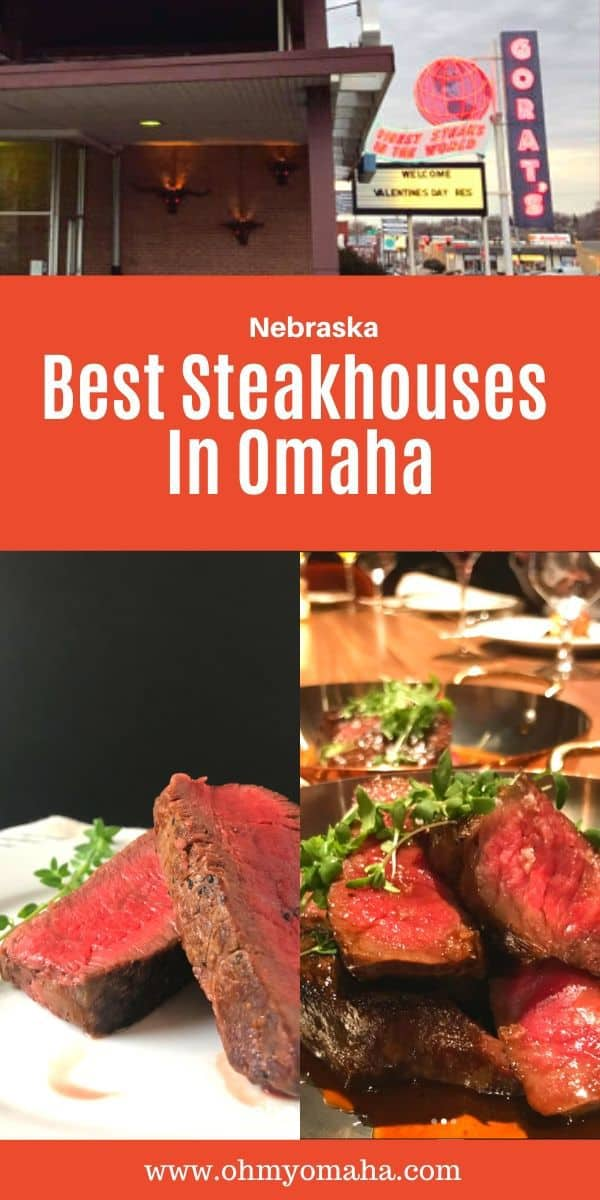 Where to get the best steaks in Omaha, Nebraska - Guide to the Omaha steakhouses and restaurants serving the best steaks in the city. This list includes the long-running nostalgic, old school Italian steakhouses in Omaha. #Omaha #beef #Nebraksa #Midwest #steakhouse