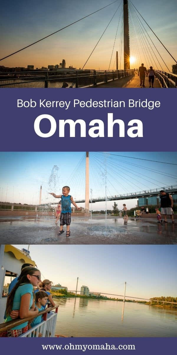 Guide to family-friendly and active things to do near the famous bridge, The Bob, in Omaha, Nebraska. Get details on bike rentals, where to find OMAR the troll, a boat ride, and the world's shortest marathon. #Omaha #downtownomaha #Nebraska #visitnebraska #omahaweekend #midwestisbest #Midwest #MidwestWeekend
