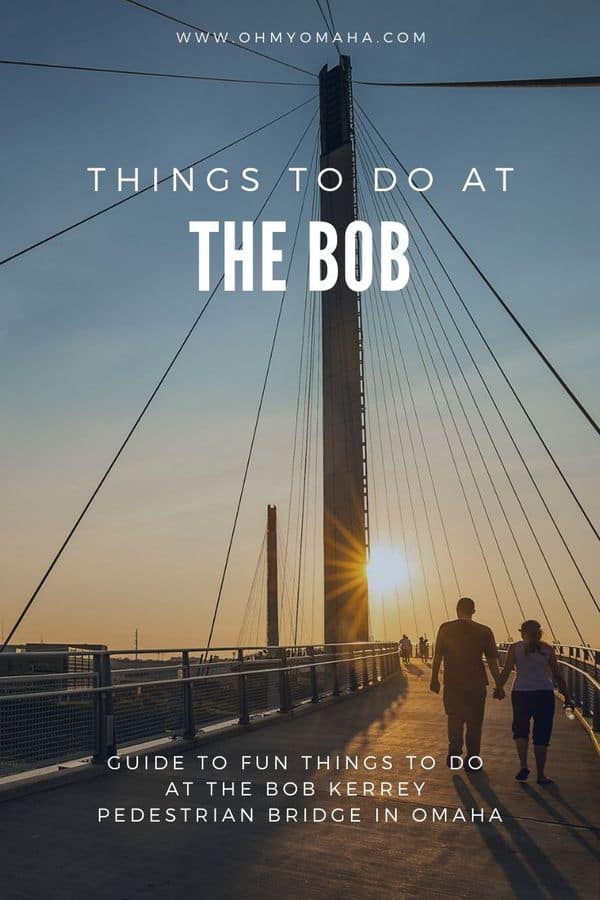 "Don't miss a chance to visit The Bob when you're in downtown Omaha, Nebraska! Here's a guide to fun things to do at the landmark, from running the world's shortest marathon and meeting a troll to learning about the area's history. Don't miss the chance to go ""Bobbing""! #Omaha #Nebraska #Midwest #bridges #MissouriRiver #familytravel"