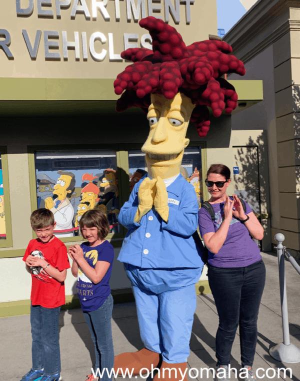 Character meet and greet at Universal Studios Hollywood