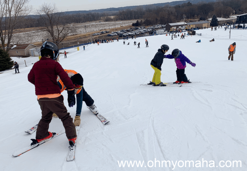 Beginner ski slope at Seven Oaks Recreation.