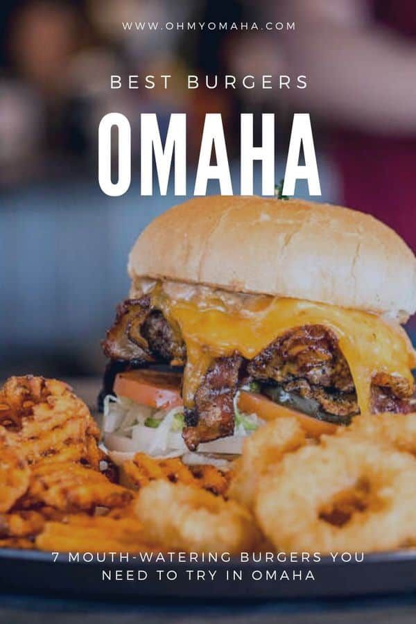 Looking for the best burgers and cheeseburgers in Omaha? Here's a list of seven recommended Omaha restaurants serving up great eats. #Omaha #Nebraska #burgers #restaurants #Midwest