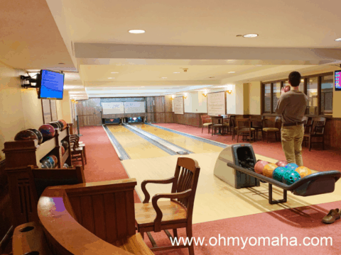 The bowling alley at Hotel Pattee