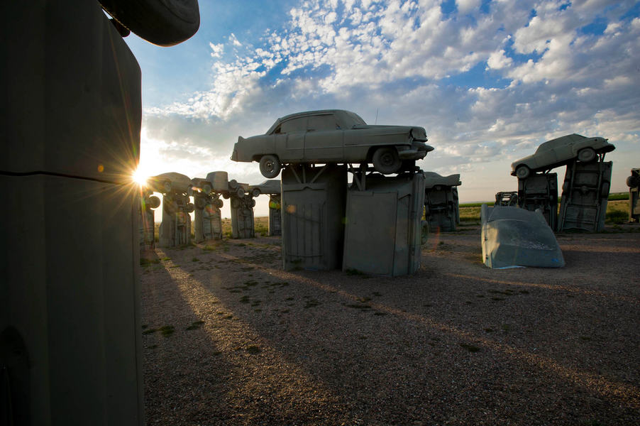 One of Nebraska's most unique and quirky destinations: Carhenge in western Nebraska