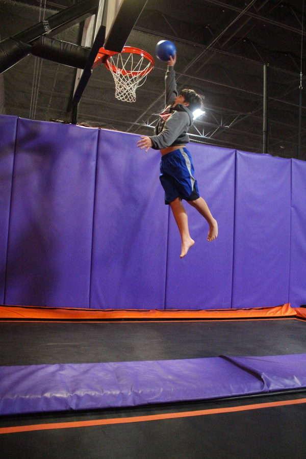 Altitude Trampoline Park basketball hoop
