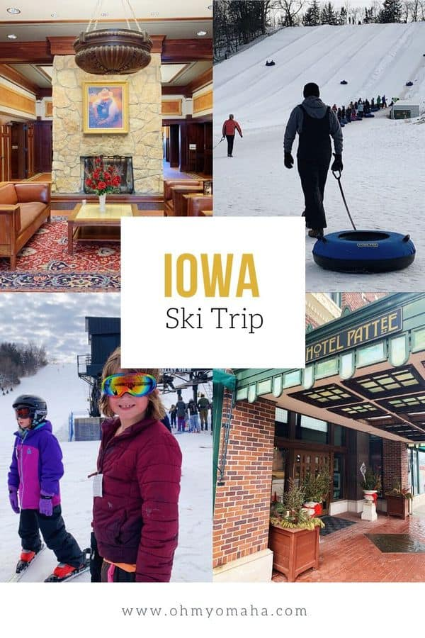 Family ski trip to Iowa? You bet! Here's an itinerary and guide to skiing in Central Iowa, including what hotel to stay and where to ski and snow tube. #Iowa #Midwest #skiing #familytravel #wintervacation