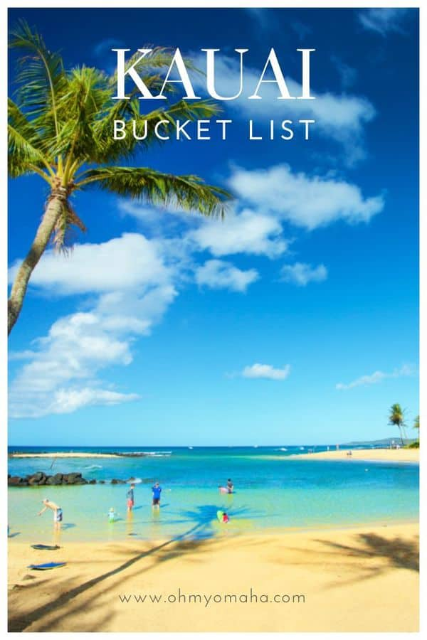 Kauai Bucket List | Adventurous things to do in Kauai | Wish list of places to see in Kauai as well as food and drinks to try #Kauai #Hawaii #BucketList