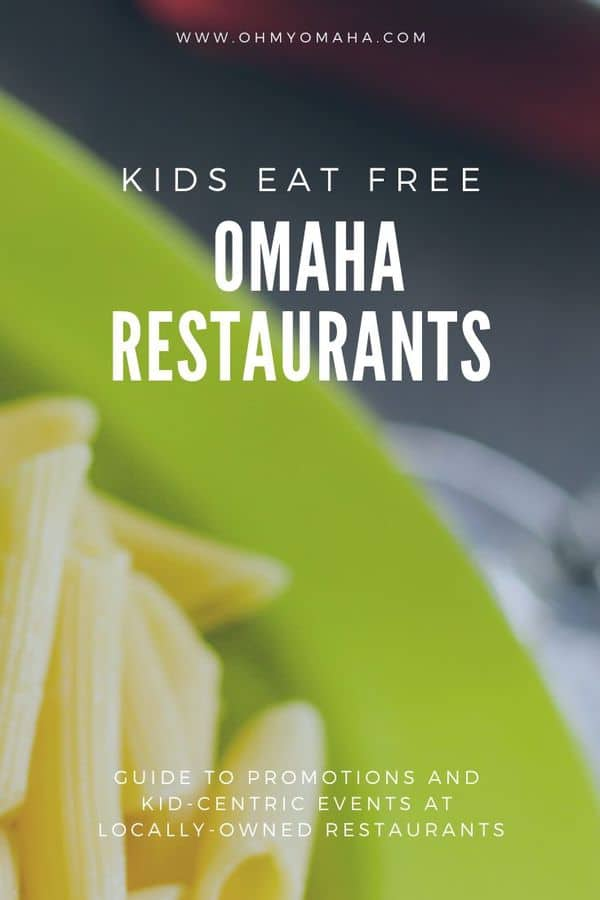 Dining in Omaha with kids isn't always easy or cheap, so check out this post to find out daily specials at locally-owned restaurants. There are kids eat free promotions, as well as some kid-centric entertainment on certain days like roving magicians! #Omaha #restaurants #Nebraska #eatlocal #kidseatfree