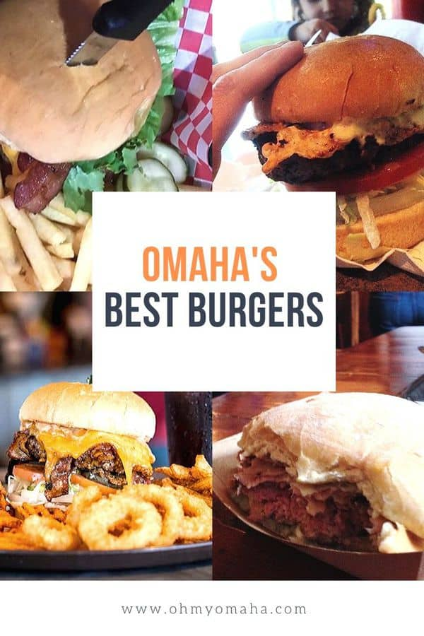 If you're craving burgers in Omaha, here's a list of the best burgers to try. List includes classic favorites, unique toppings and the ultimate burger challenge. #Omaha #foodie #burgers #midwestisbest #foodtravel