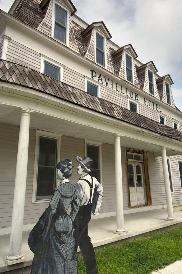 Unique Nebraska destination - Taylor Villagers, life-sized wood cutouts of people