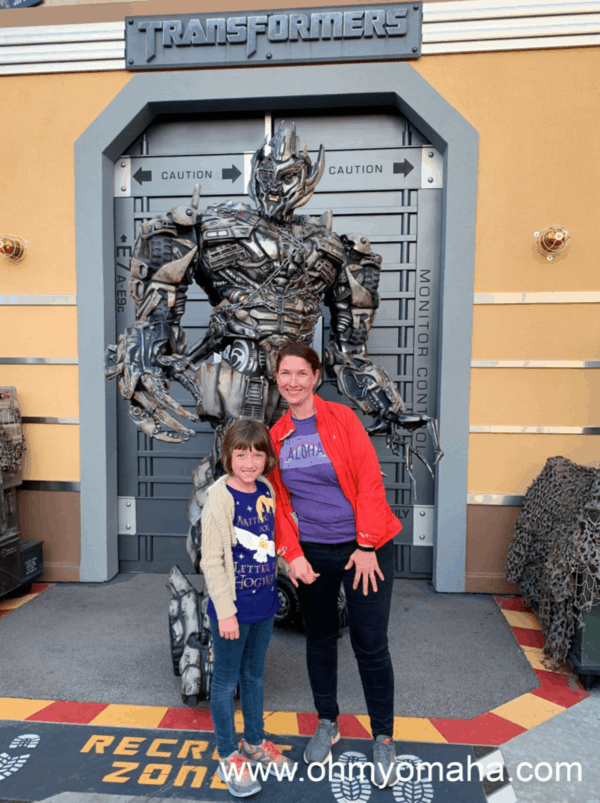 Up-close encounter with a Transformer at Universal Studios Hollywood