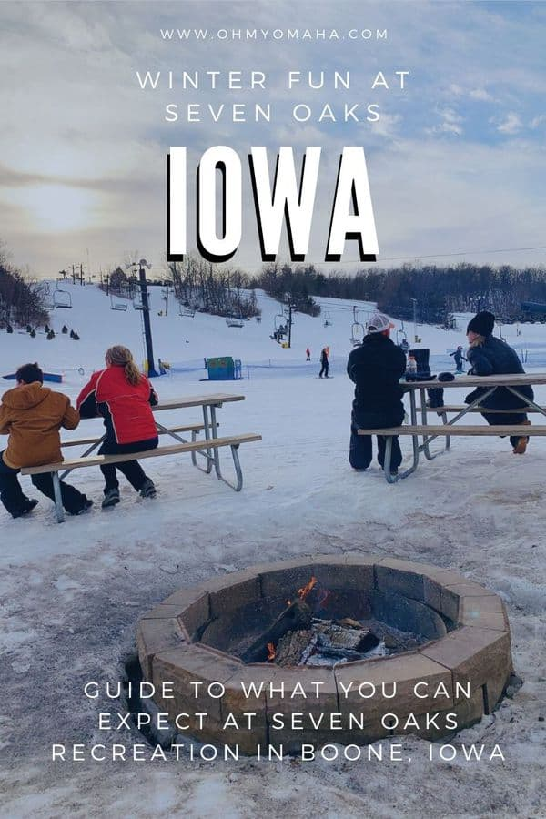 Iowa winter vacation idea: Skiing at Seven Oaks Recreation in Central Iowa (northwest of Des Moines). This is a great beginner skier destination in the Midwest. #Iowa #ThisIsIowa #wintervacation