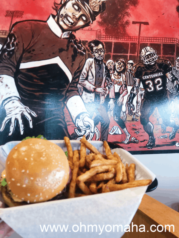 Cheeseburger and fries at the popular Des Moines eatery, Zombie Burger + Shake Lab