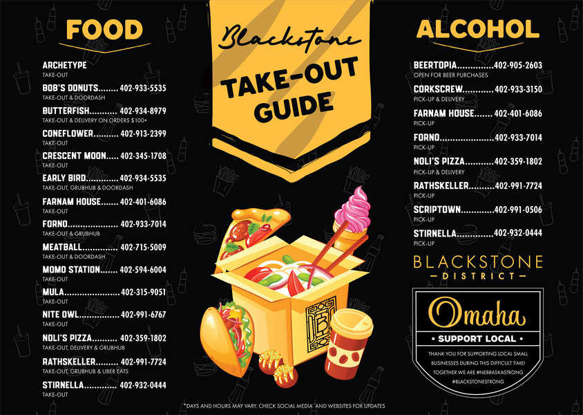 Omaha Blackstone District Takeout Guide