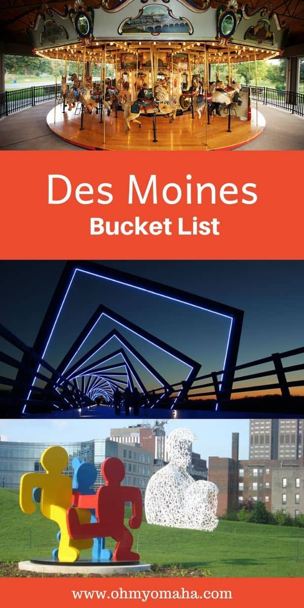Looking for things to do in Des Moines, Iowa? Here's a fun bucket list featuring Des Moines attractions, experiences, and popular restaurants to try on your next visit. #DesMoines #Iowa #MidwestTravel #USATravel