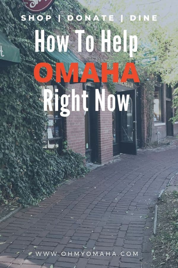 20+ ways to help Omaha businesses and neighborhoods today!