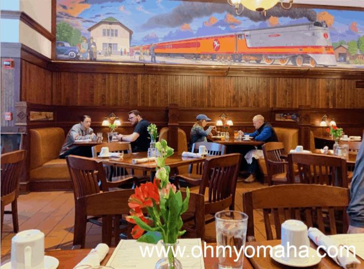 Dining room at Harvey's inside Hotel Pattee