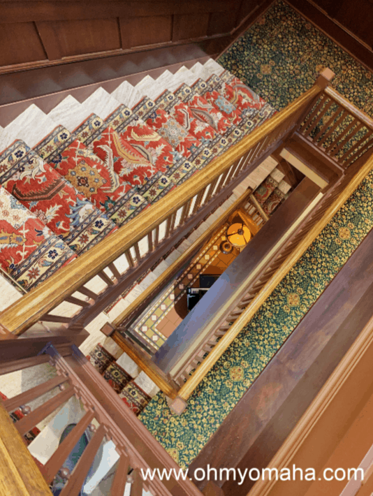 Stairwell at Hotel Pattee in Perry, Iowa