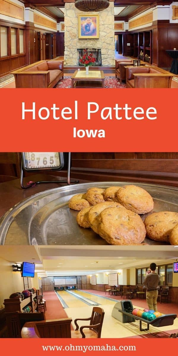 Looking for a unique place to stay in Iowa? Check out Hotel Pattee in Central Iowa. The hotel has 40 themed rooms, a small bowling alley, and plenty of local character. #familytravel #midwest #Iowa #IowaHotels