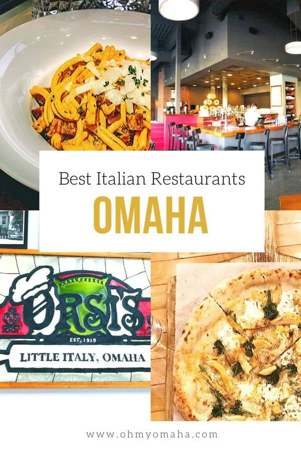 10 great restaurants for Italian food in Omaha! Learn about the charm of restaurants like Dante, La Casa Pizzeria, Via Farina and others. #OmahaRestaurants #Nebraska #NebraskaRestaurants #ItalianFood