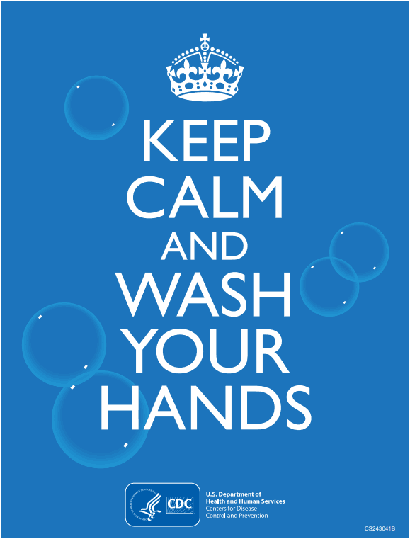 CDC wash your hands sign