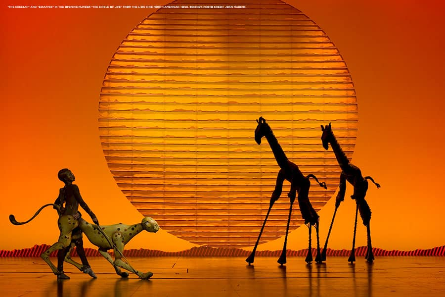 "Scene from the Broadway touring production of ""Disney's The Lion King"""