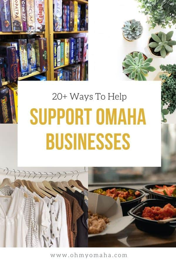 Want to shop and support the community but can't leave the house, Omaha? Here's how you can shop and support local businesses! List includes shops, restaurants, craft stores, boutiques, and nonprofits.