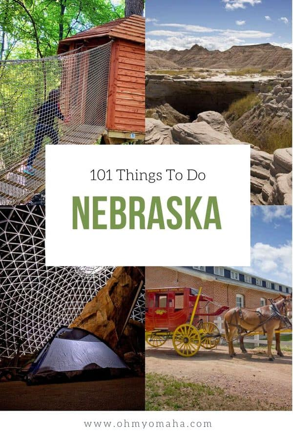 The ultimate list of things to do in Nebraska - 101 Nebraska landmarks, restaurants and outdoor adventures. If you're looking for unique experiences to have in Nebraska, this is your list! #guide #Nebraska #USA