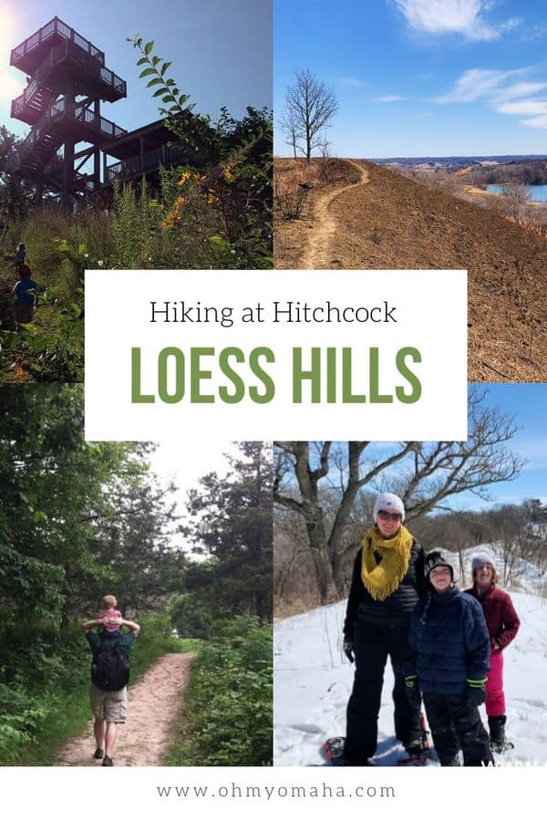 Experience all four seasons of the Iowa outdoors at Hitchcock Nature  Center near Council Bluffs, Iowa. Get  tips on when to visit, what to do, and which trails to try at Hitchcock. This is a great place to explore the famous Loess Hills! #guide #hiking #Midwest  #Midwestisbest #outdoors